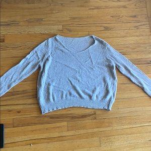Light grey sweater!